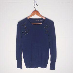 Ivanka Trump Knit Embellished Sweater - Medium.